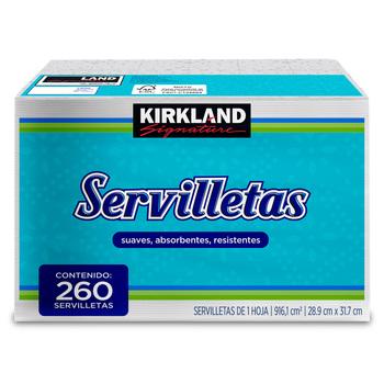 Kirkland-Signature-Servilletas-Suaves-Absorbentes-Y-Resistentes-De-1-Hoja-260-Pzas