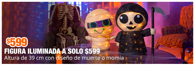 Figuras iluminadas a solo $599 - Elige entre dos estilos diferentes para decorar